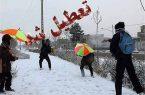 برف و باران باز هم مدارس را تعطیل کرد